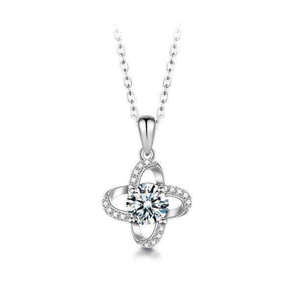 """GEMODA GEMODA """"Delilah"""" 1 Carat Moissanite Necklace in 925 Sterling Silver - Gemorie"""