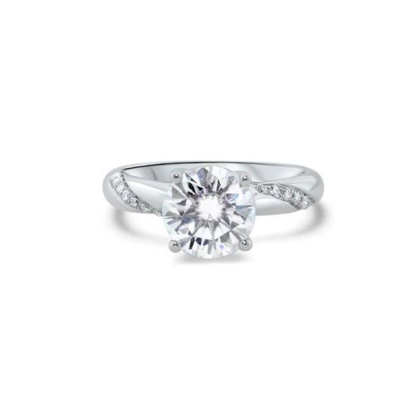 """GEMODA GEMODA """"Enchantress"""" 2ctw Brilliant Round Moissanite Twist Engagement Ring - Gemorie"""
