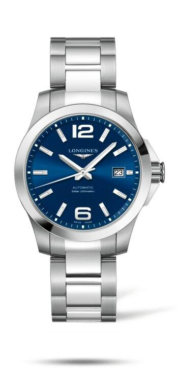 LONGINES LONGINES Conquest Men's Water-Resistant Watch - Stainless Steel - Gemorie