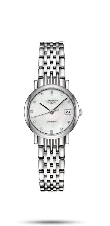 LONGINES LONGINES Elegant Collection Automatic Movement Type Women's Watch - Stainless Steel - Gemorie