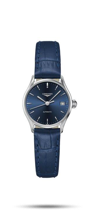 LONGINES LONGINES Lyre Round Women's Leather Watch - Blue - Gemorie