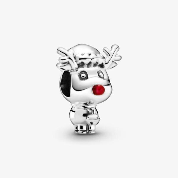 Pandora PANDORA Red Nose Reindeer Charm - Gemorie