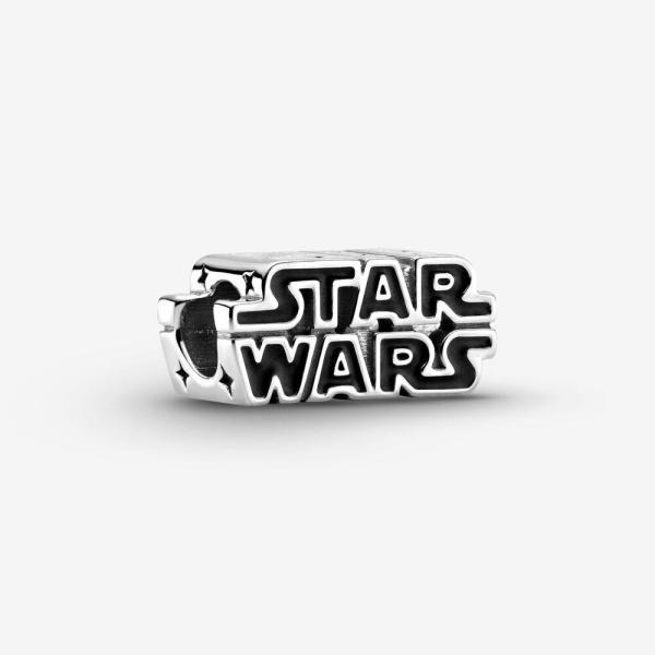 Pandora PANDORA Star Wars Silver 3D Logo Charm - Gemorie