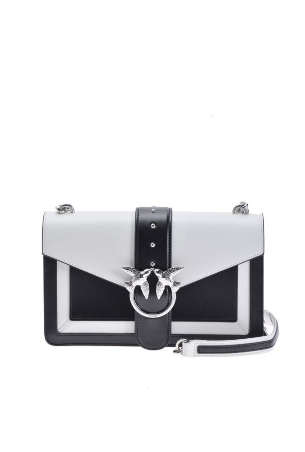 PINKO PINKO- LOVE BAG EVOLUTION IN TWO-TONE LEATHER - Gemorie