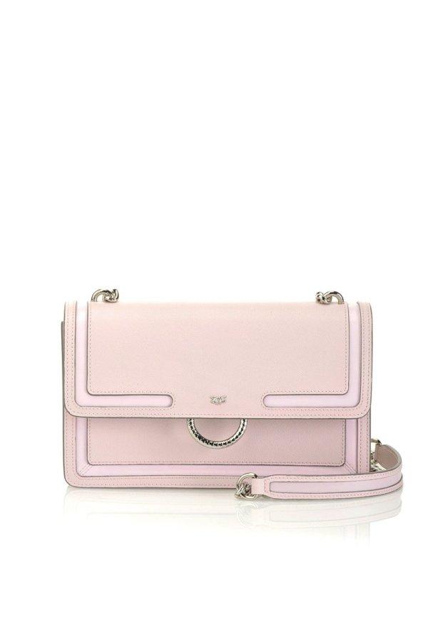 PINKO PINKO- New Love Bag in Caviar Leather Blush Pink - Gemorie