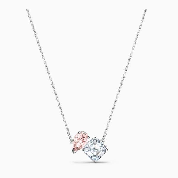 Swarovski SWAROVSKI Attract Soul Necklace - Pink & Rhodium Plated - Gemorie