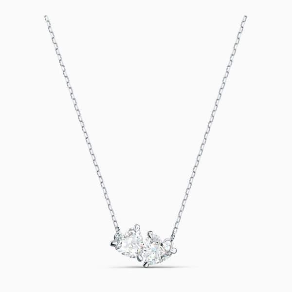 Swarovski SWAROVSKI Attract Soul Necklace - White & Rhodium Plated - Gemorie