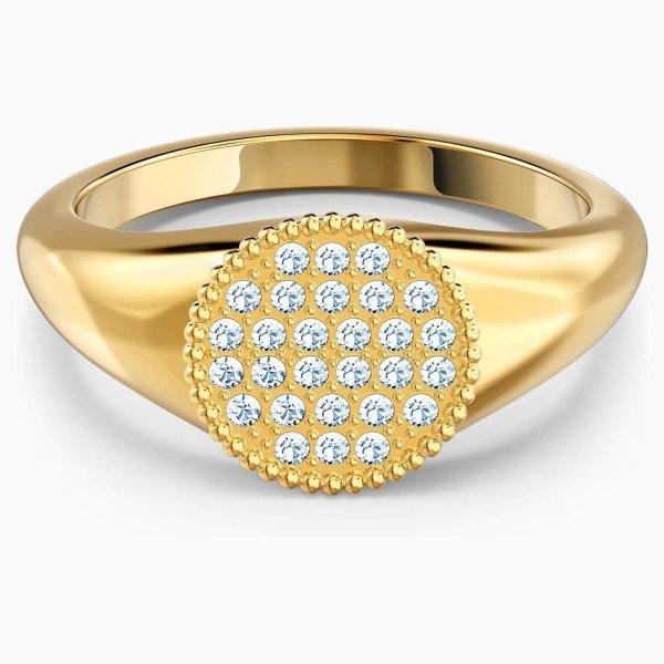 Swarovski SWAROVSKI Ginger Signet Ring - White & Gold Tone Plated - Gemorie