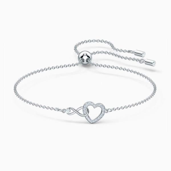 Swarovski SWAROVSKI Infinity Heart Bracelet - White - Gemorie