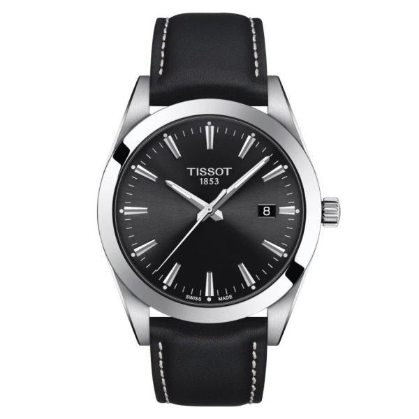 Tissot TISSOT Gentleman Domed Scratch Resistant Sapphire Crystal Watch - Black - Gemorie