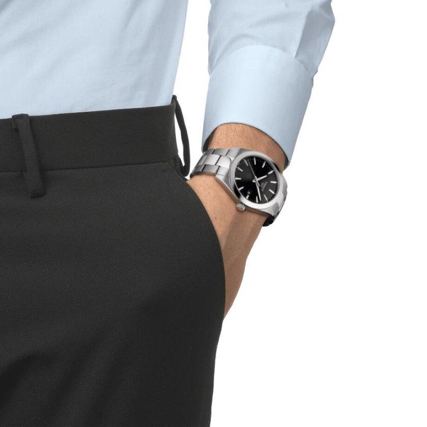 Tissot TISSOT Gentleman Round Swiss Quartz Men's Watch - Stainless Steel - Gemorie