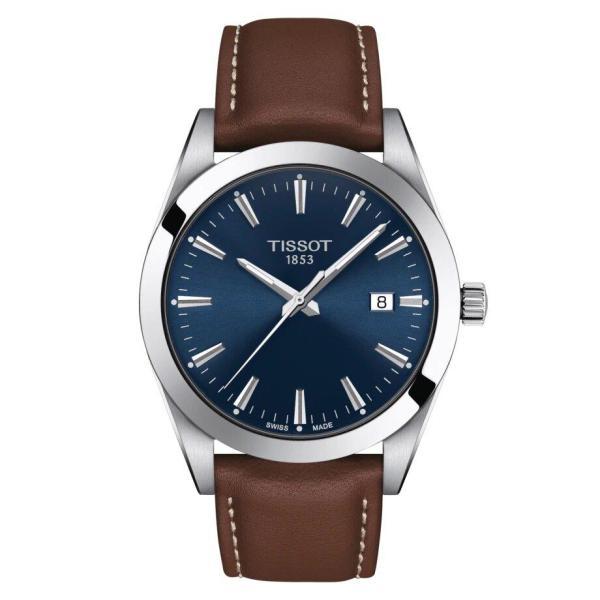 Tissot TISSOT Gentleman T-Classic Stainless Steel Case Men's Watch - Brown - Gemorie