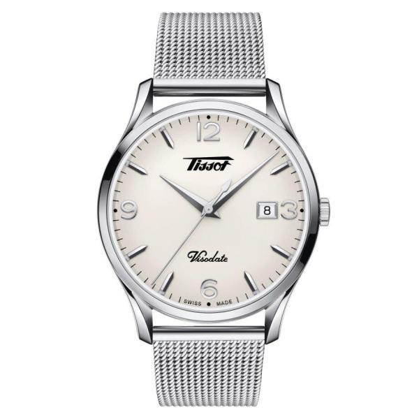 Tissot TISSOT Heritage Visodate Silver Opalin Quartz EOL Energy Men's Watch - Stainless Steel - Gemorie
