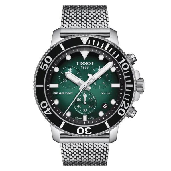 Tissot TISSOT Seaster 1000 Watersport Multifunctional Men's Watch - Stainless Steel - Gemorie