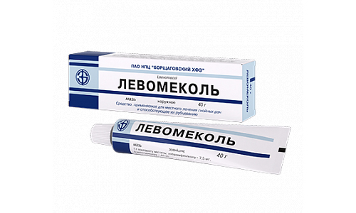 A gyógyszer Levomecole alkalmazása tilos túlérzékenységben a kloramfenikollal és más komponensekkel szemben