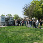 Hungry People visiting the USF mobile food truck