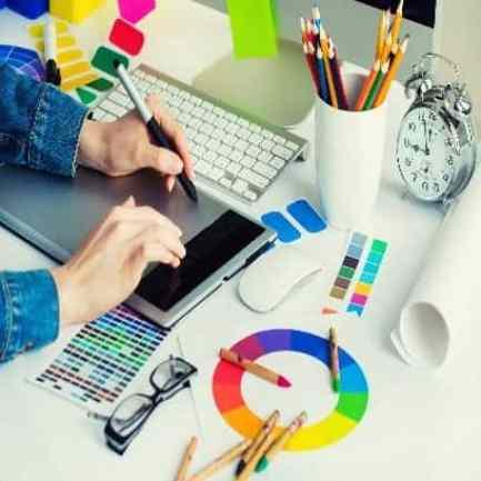 graphic design flyers, brochures, business cards, presentation folders