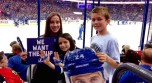 The last home game. Matthew did the Thunder Skate again. And we are all Thunderstruck. Forever and always.