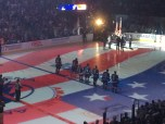National Anthem. Matthew standing between Bishop and Callahan.