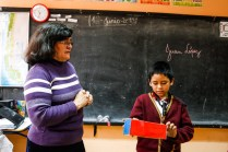 """For more peaceful and inclusive societies. """"At this school we teach them to respect people who are from other countries because here we have Peruvians and there are also children from Bolivia and Colombia. We teach them not to discriminate against these people. The work we're doing with them is quite important."""" Credit: UNESCO/Hugo Infante"""