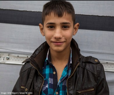 """Adnan, 13 years, Syrian refugee living in Dohuk, northern Iraq: """"I was in the 6th grade when we had to flee to Iraqi Kurdistan. After some months living in a camp we moved to Erbil, northern Iraq trying to get a better life. However in Erbil the (Sorani) dialect is spoken where as in northern Iraqi Kurdistan and the Syrian Kurds they speak the (Kermanji) dialect. This, along with the difference in the education system, has made it difficult for me to continue my education."""""""