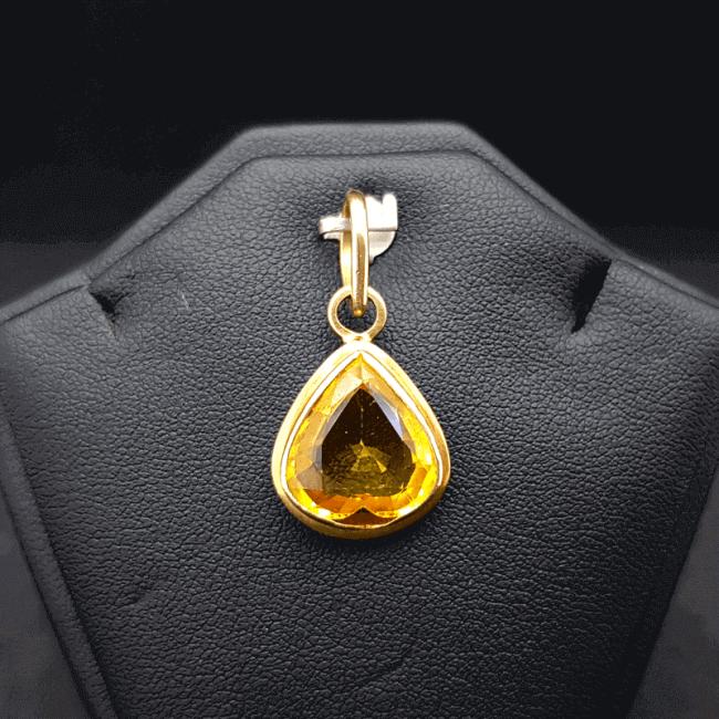 An Original Natural Sri Lankan or Siloni or Ceylon Yellow Sapphire (Pokhraj Pathor) Stone - অরিজিনাল শ্রীলংকান বা সিংহলি বা সিলোনি পোখরাজ পাথর