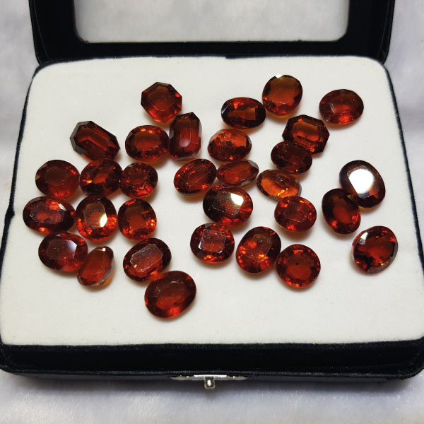 Natural Hessonite Garnet - গোমেদ - Gems Jewellers & Gems Stone