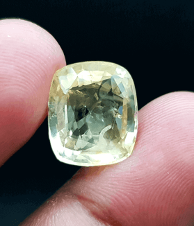 An Original Natural Sri Lankan/ Siloni/ Ceylon Yellow Sapphire (Pokhraj Pathor) Stone - অরিজিনাল শ্রীলংকান/ সিংহলি/ সিলোনি পোখরাজ পাথর