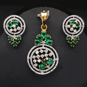 Diamond Pendant Set (Earring, Locket) - ডায়মন্ড বা হীরার লকেট সেট