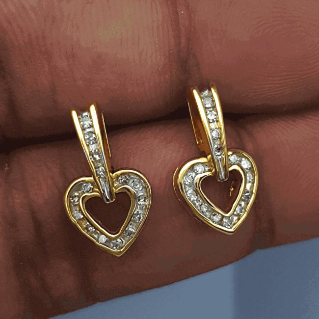 Latest Diamond Earring Tops Design - ডায়মন্ড বা হীরার কানের দুল