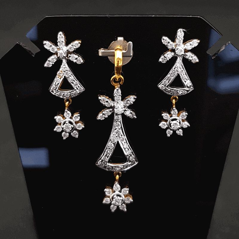 Latest Diamond Pendant Set (Earring, Locket) Design - ডায়মন্ড বা হীরার লকেট সেট