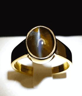 An Original Natural Best Quality Sri Lankan or Siloni Cats Eye Stone Ring Price In Bangladesh - অরিজিনাল শ্রীলঙ্কান বা সিলোনি ক্যাটস আই পাথরের দাম