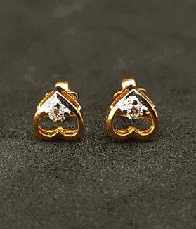 Latest Diamond Love Earring Price & Design 2021 - ডায়মন্ডের হীরার কানের দুলের দাম ও ডিজাইন