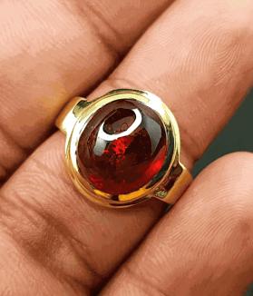 An Original Natural African Spessartite Garnet/ Gomed Stone Ring Price In Bangladesh - অরিজিনাল আফ্রিকান গোমেদ/ গার্নেট পাথরের দাম