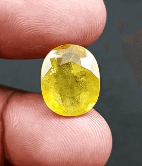 An Original Natural Bangkok (Thailand) Yellow Sapphire (Pokhraj Pathor) Stone Price In Bangladesh - অরিজিনাল ব্যাংকক (থাইল্যান্ড) পোখরাজ পাথরের দাম