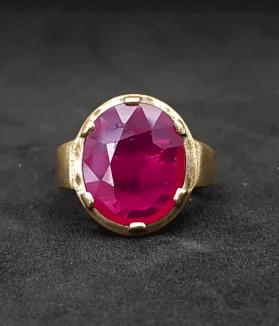 An Original Natural Best Quality Mozambique (African or New Burma) Ruby Yaqut Stone Ring Price In Bangladesh - অরিজিনাল মোজাম্বিক (আফ্রিকান) রুবী চুনি পাথরের দাম