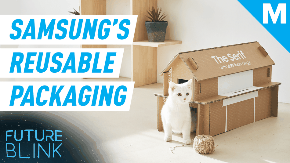 samsung's-new-eco-packaging-can-be-rebuilt-into-a-cat-house-—-future-blink