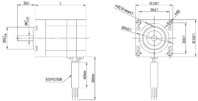 High Torque NEMA 17 Brushless Motor