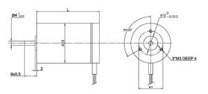 NEMA 11 Brushless DC Motor  28mm Diameter