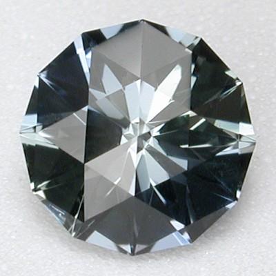 custom faceted sapphire