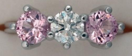 three stone engagement ring custom