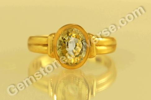 Natural Yellow Sapphire Gem Of Jupiter Sapphire Rings
