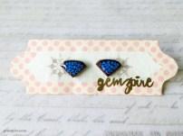 Blue Diamond Earrings @ $11.90 (SOLD)