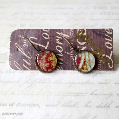 Round Floral Dangling Earrings @ $11.90