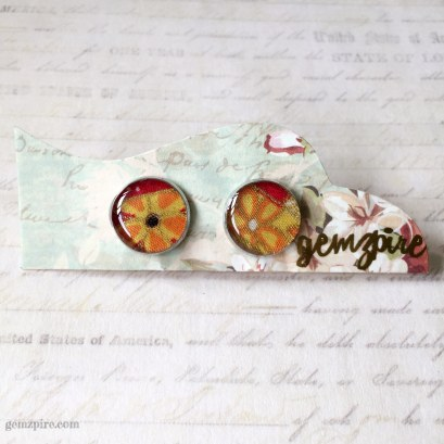 Japanese Inspired Floral Clip On Earrings (Not for sale)
