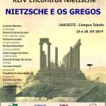 XLIV Encontros Nietzsche - Nietzesche e os gregos