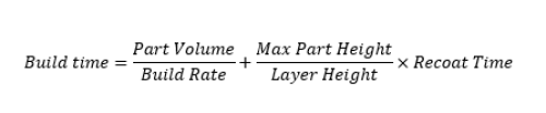 Build time equation