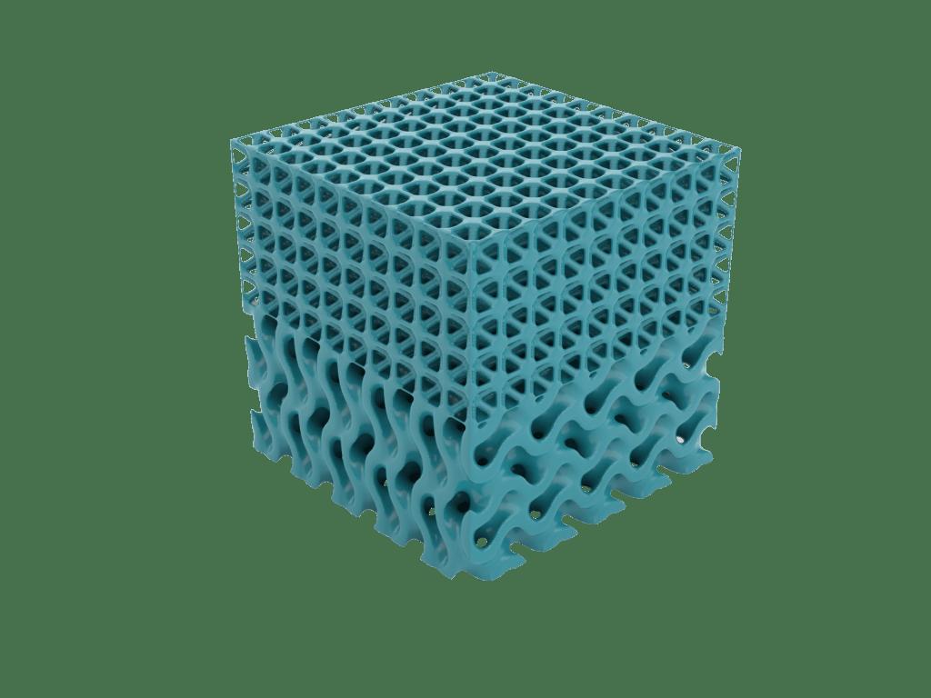 Multiple lattices designed with Gen3D's lattice design generator