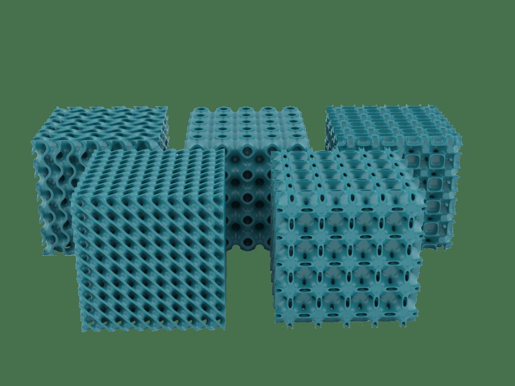 TPMS Lattices designed with Sulis Lattice