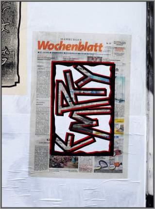 Empty Hamburger Wochenblatt (Empty Nr. 7) / cutout